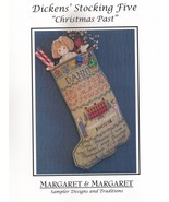 Christmas Past Dickens Stocking Five, Margaret & Margaret Cross Stitch P... - $5.95
