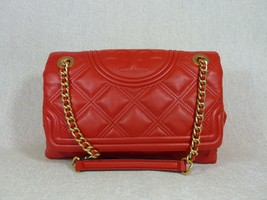 NWT Tory Burch Brilliant Red Soft Fleming Convertible Shoulder Bag $528 - $522.72