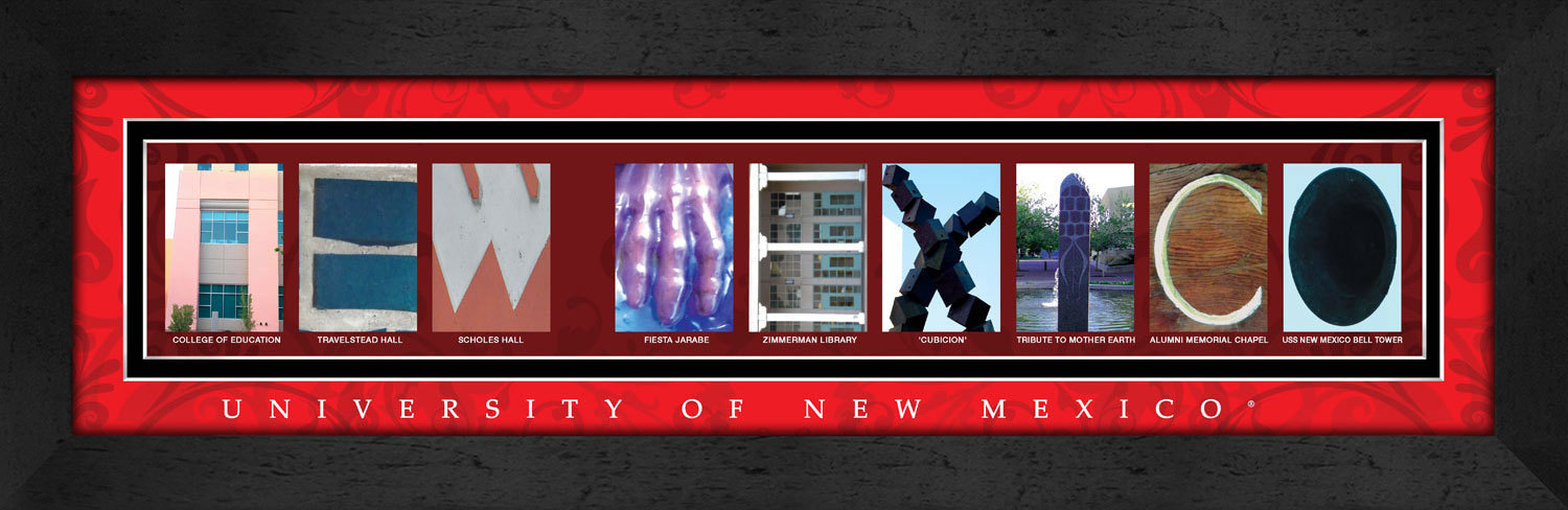 Primary image for University of New Mexico Officially Licensed Framed Campus Letter Art