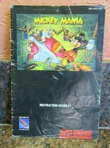Mickey Mania The Timeless Adventures of Mickey Mouse Super Nintendo Manual - $5.94