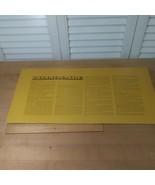 Billionaire Board Game 1973  Card Board Instruction Box Insert - $4.95