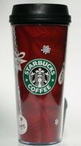 Starbucks Coffee Tumbler Winter 2009 16 oz Insulated Hot Drinks Christmas  - $14.75