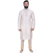 Ethnic Men Cream Indian Designer Kurta 2pc Suits - €60,33 EUR+