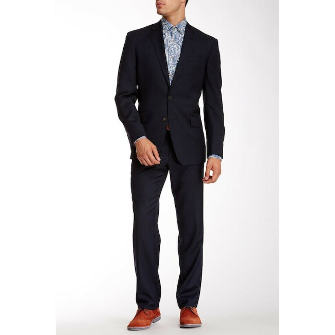 Ted Baker London Birdseye Notch Lapel Wool Suit Jacket Only, Blue, 42L