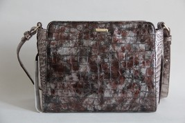 NWT BRAHMIN CARRIE SMALL LEATHER CROSSBODY BAG BROWN CHARENTE - $191.57