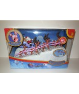 Rudolph Red Nosed Reindeer Santa's Sleigh Team with Music Set New in Box NIB - $225.00