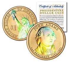 HOLOGRAM 2-sided 2007 JOHN ADAMS Presidential $1 Dollar U.S. President Coin - $8.56