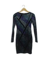 Topshop black & blue sparkly Christmas new year body con mini dress Size 8 - $438,09 MXN