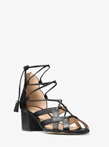 MICHAEL MICHAEL KORS Mirabel Leather Lace-Up Sandal Black Mult Sizes - $119.99