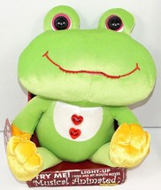 "FROG 12"" ANIMATED SINGING PLUSH TOY FIGURE LIGHTS UP & ELVIS SONG - MINO... - $18.88"