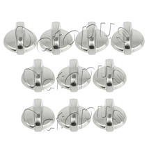 10 Pack WB03T10284 Fits GE Range Oven Knob Stainless Steel AP4346312 PS2321076 - $15.79