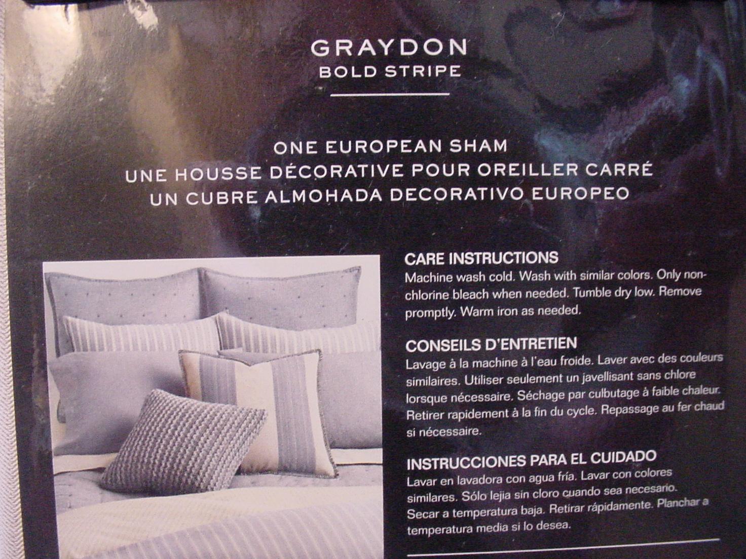Ralph Lauren Graydon Bold Stripe Dune/Linen Beige/Ivory Euro Sham