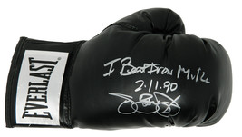 "James Buster Douglas Signed Everlast Black Boxing Glove w/ ""I Beat Iron Mike 2/1 - $105.00"