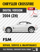 2004 CHRYSLER CROSSFIRE FACTORY REPAIR SERVICE MANUAL / WORKSHOP MANUAL OEM - $9.90