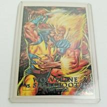 Wolverine vs Sabretooth Battle 3-D 1992 Marvel Masterpieces SkyBox trading Card - $99.00