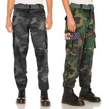 Men's Tactical Combat US Military Army American 4th of July Cargo Pants Trousers
