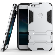 Kickstand Tough Dual Layer Protective Case For Google Pixel 5.0inch - Si... - $4.99
