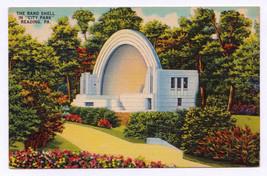1953 Reading PA Volunteer Fireman's Memorial Band Shell City Park RARE Postcard  - $3.95