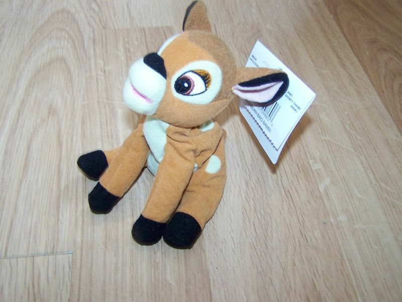 Primary image for Disney Store Bambi Deer Mini Bean Bag Plush Stuffed Animal w Tags