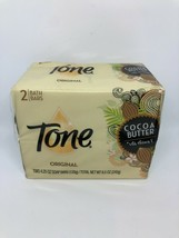 Tone Original Cocoa Butter with Vitamin E Soap 2 Bars 3.2 oz Ea Bs50 - $6.79