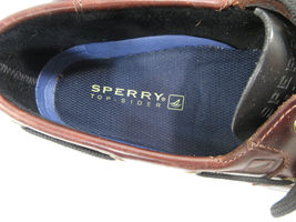 Sperry Top Sider Men's Boat Deck Shoe Leather Size 9.5 M Black Brown New image 2