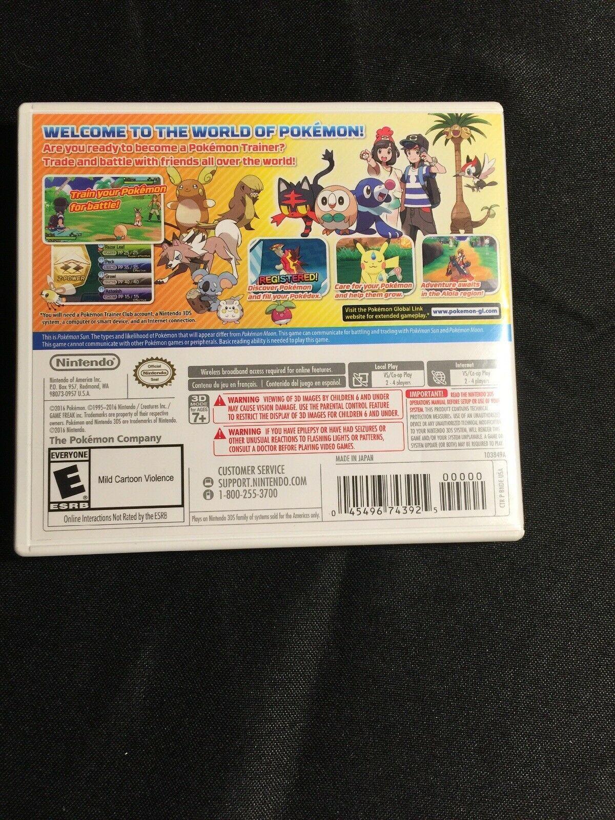 Pokémon Sun (Nintendo 3DS, 2016) image 2