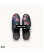 ERDEM x H&M Floral Slip On Shoes Jaquard Weave SZ 9.5 SOLD OUT - $177.21