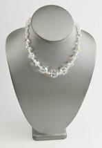 "15"" ESTATE VINTAGE Jewelry AB GLASS CRYSTAL GRADUATED BEAD NECKLACE ADJU... - $10.00"