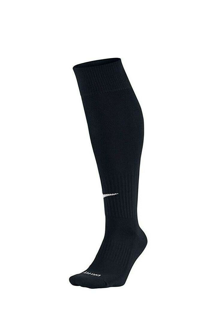 Nike Cushioned Over the Calf Socks Women sz 4-6 Youth Soccer 1 Pair Black OTC