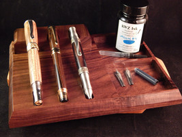 3 - Pen Tray with Storage Crafted from Walunt - $43.50