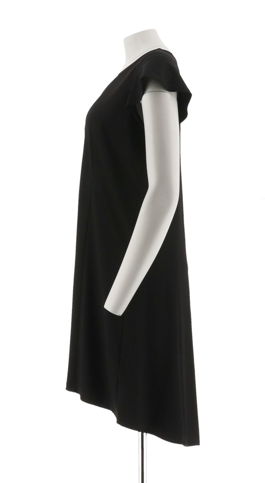 H Halston Petite Knit Crepe Dress Cutout Black PS NEW A308103 image 2