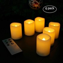 Candle Choice Flameless Votive Candles Battery Operated Timer LED Candle... - $17.16