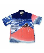 SUN SURF Hokusai SPECIAL EDITION Short sleeve aloha shirt Red Fuji Hawaiian - $349.99