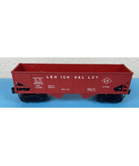 Lionel 6476 25000 O Scale Light Red Lehigh Valley LV 2 Bay Hopper Car Vi... - $15.85