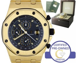 Audemars Piguet Royal Oak Offshore Yellow Gold Blue 42mm 25721BA.OO.1000... - $48,993.65