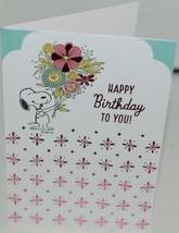Hallmark FBD 442 4 Hallmark Peanuts Snoopy Happy Birthday Card Pink Envelope Pk4 image 2