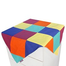 Colorful Lattice Canvas Cabinet Dustproof Cloth Refrigerator Dust Cover - £17.31 GBP
