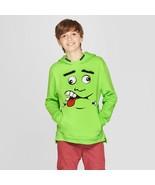 Cat & Jack Green Boys' Long Sleeve Hooded Sweatshirt Frankenstein Monste... - $16.82