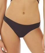 PILYQ Black Basic Ruched Cheeky Bikini Bottom Size Large NEW - $29.39