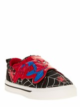 Marvel Spiderman Toddler Boys Casual Sneaker Slip On, Black and Red - Si... - $17.72