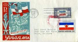 F D I COVER 1943 OVERRUN NATIONS FLAGS YUGOSLAVIA THE WORLD WAR II VALUE... - $45.00
