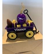 NFL Wagon Ornament W/Football & Helmet Wagon With Presents Vikings - $14.54