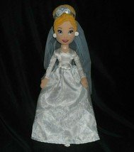 "17 "" Disney Store Cenerentola Matrimonio Sposa Bambola Peluche Peluche - $22.93"