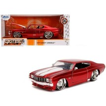 Jada Toys 31654 1971 Chevrolet Chevelle SS Glossy Stripes Bigtime Muscle... - $530.36
