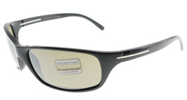 SERENGETI PISA Shiny Black Polarized 555nm Sunglasses 6948 - $195.02