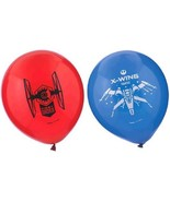 """Star Wars The Force Awakens VII 6 Ct 12"""" Latex Printed Balloons Red Blue - $3.32"""