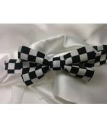 Checkered Bowtie, Men, Boys, Black White Wedding, Groomsmen, Ringbearer,... - $19.95