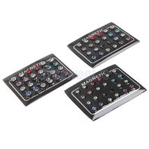 Mix Colour 12pair  Crystal Magnetic Clip On Stud Earrings - $15.00