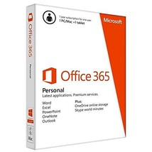 Microsoft Office 365 Personal  1 User   1 Year subscription   PC/Mac - $118.82