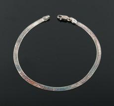 Vintage .925 Sterling Silver Signed CA Herringbone Simple Tennis Bracele... - $12.82